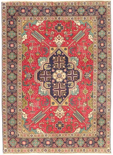 Tabriz Patina Matto 138X190 Itämainen Käsinsolmittu Vaaleanruskea/Ruoste (Villa, Persia/Iran)