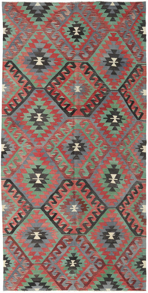 Kilim Turkish Rug 165X331 Authentic  Oriental Handwoven Dark Grey/Rust Red (Wool, Turkey)