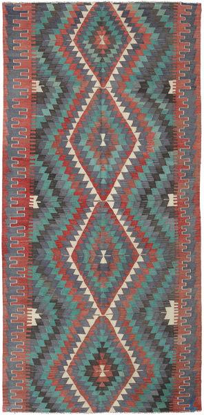 Κιλίμ Τουρκία Χαλι 164X337 Ανατολής Χειροποίητη Ύφανση Σκούρο Γκρι/Σκούρο Κόκκινο (Μαλλί, Τουρκικά)