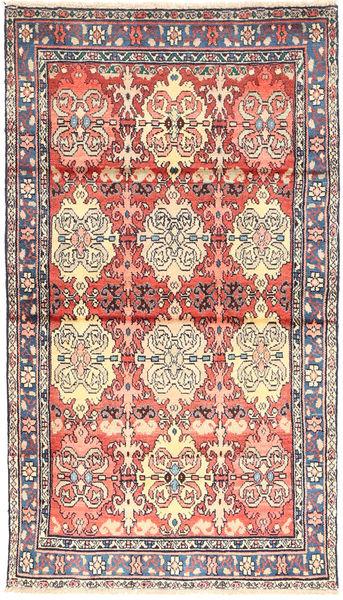 Hamadan Matto 106X189 Itämainen Käsinsolmittu Vaaleanpunainen/Beige (Villa, Persia/Iran)