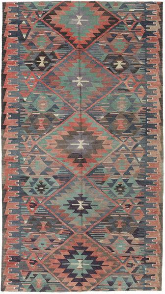 Kilim Turkish Rug 163X292 Authentic  Oriental Handwoven Dark Grey/Light Brown (Wool, Turkey)