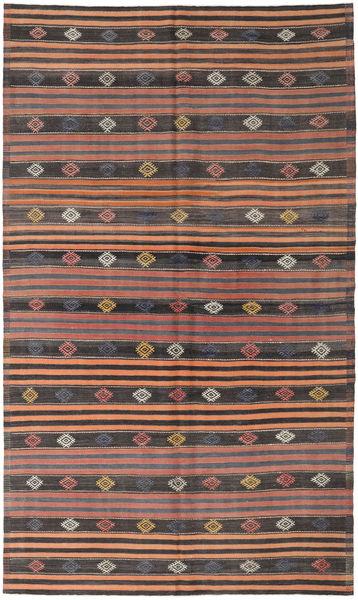 Kilim Turkish Rug 186X318 Authentic  Oriental Handwoven Dark Grey/Light Brown (Wool, Turkey)