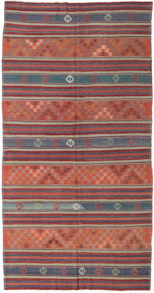 Kilim Turkish Rug 167X323 Authentic  Oriental Handwoven Dark Red/Dark Grey (Wool, Turkey)