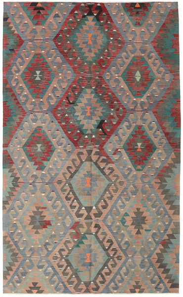 Kilim Turkish Rug 177X292 Authentic  Oriental Handwoven Dark Grey/Light Brown (Wool, Turkey)