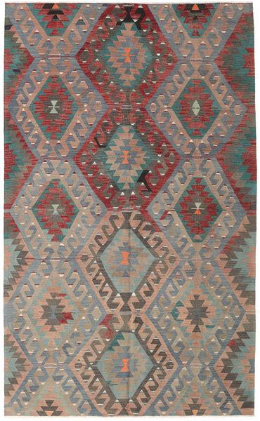 Kilim Törökország Szőnyeg 177X292 Keleti Kézi Szövésű Sötétszürke/Világosbarna (Gyapjú, Törökország)