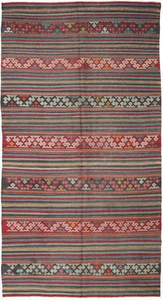 Kilim Turkish Rug 167X314 Authentic  Oriental Handwoven Dark Grey/Dark Red (Wool, Turkey)