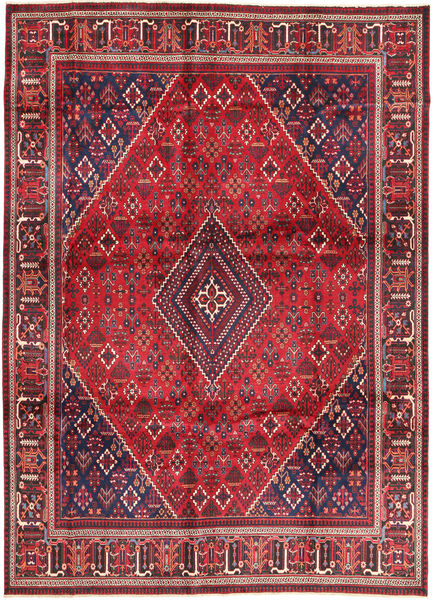 Joshaghan Rug 274X375 Authentic  Oriental Handknotted Crimson Red/Dark Purple Large (Wool, Persia/Iran)