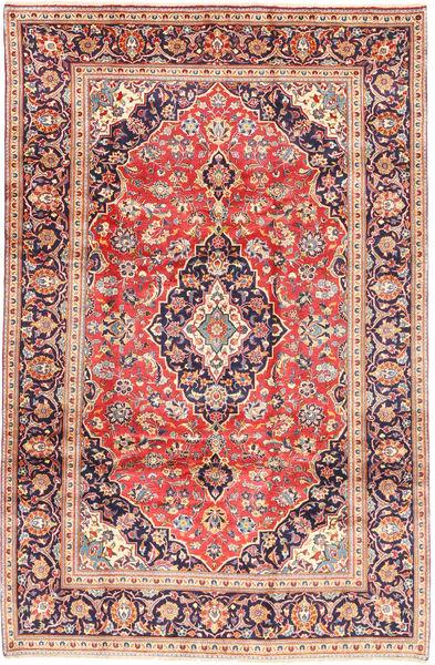 Keshan Matta 200X303 Äkta Orientalisk Handknuten Beige/Roströd (Ull, Persien/Iran)