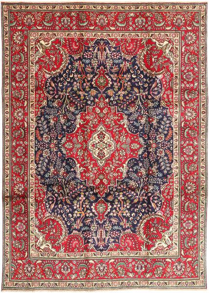 Tabriz Matta 248X343 Äkta Orientalisk Handknuten Mörklila/Mörkgrå (Ull, Persien/Iran)