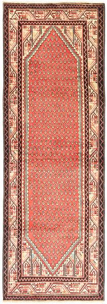 Sarough Mir Matto 103X303 Itämainen Käsinsolmittu Käytävämatto Vaaleanruskea/Vaaleanpunainen (Villa, Persia/Iran)