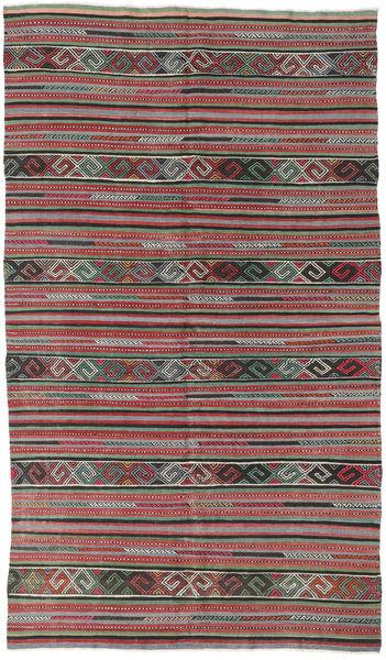 Kelim Turkki Matto 162X283 Itämainen Käsinkudottu Tummanharmaa/Ruskea (Villa, Turkki)