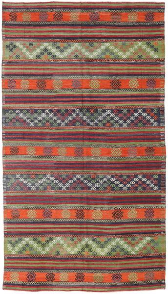 Kelim Turkki Matto 173X310 Itämainen Käsinkudottu Tummanpunainen/Violetti (Villa, Turkki)