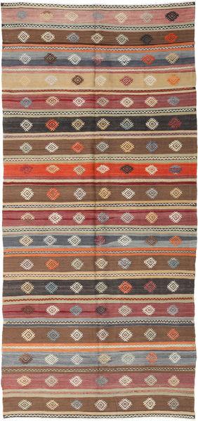 Kilim Turkish Rug 152X344 Authentic  Oriental Handwoven Hallway Runner  Light Brown/Light Grey (Wool, Turkey)