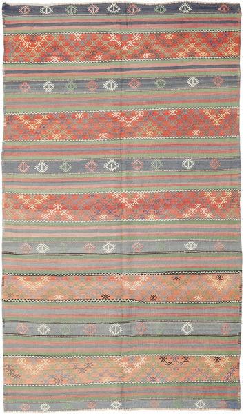 Kelim Turkisk Matta 177X308 Äkta Orientalisk Handvävd Ljusgrå/Ljusrosa (Ull, Turkiet)