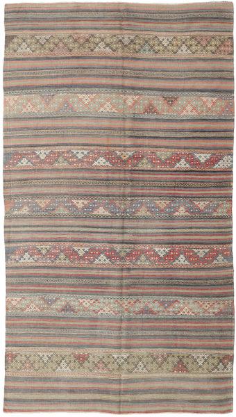 Kilim Turkish Rug 160X292 Authentic  Oriental Handwoven Light Brown/Dark Grey (Wool, Turkey)