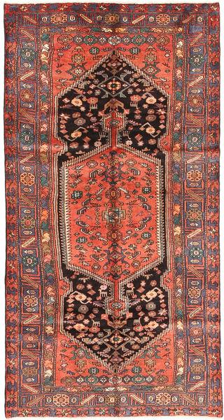 Zanjan Matto 150X285 Itämainen Käsinsolmittu Ruskea/Tummansininen (Villa, Persia/Iran)
