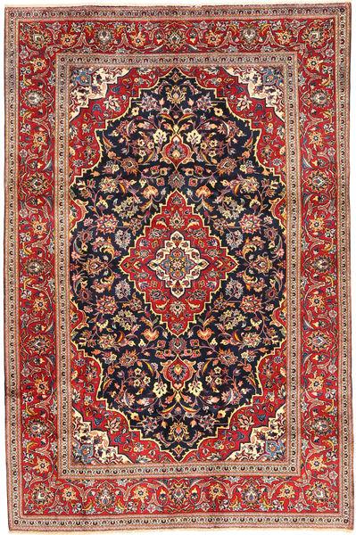 Keshan Rug 197X300 Authentic  Oriental Handknotted Dark Red/Dark Purple (Wool, Persia/Iran)