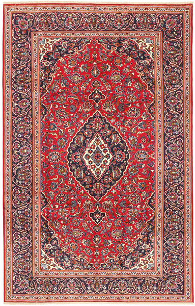 Keshan Rug 205X318 Authentic  Oriental Handknotted Rust Red/Dark Red (Wool, Persia/Iran)