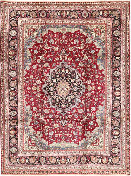 Mashad Matto 248X334 Itämainen Käsinsolmittu Tummanbeige/Vaaleanpunainen (Villa, Persia/Iran)