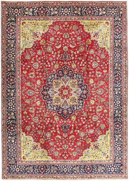 Tabriz Tapis 250X345 D'orient Fait Main Marron Clair/Violet Foncé Grand (Laine, Perse/Iran)