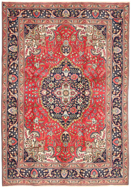 Tabriz Rug 200X290 Authentic  Oriental Handknotted Light Brown/Rust Red (Wool, Persia/Iran)