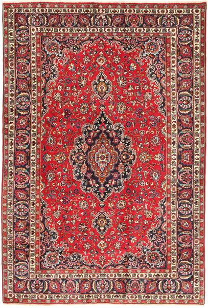 Mashad Szőnyeg 196X289 Keleti Csomózású Barna/Sötétpiros (Gyapjú, Perzsia/Irán)