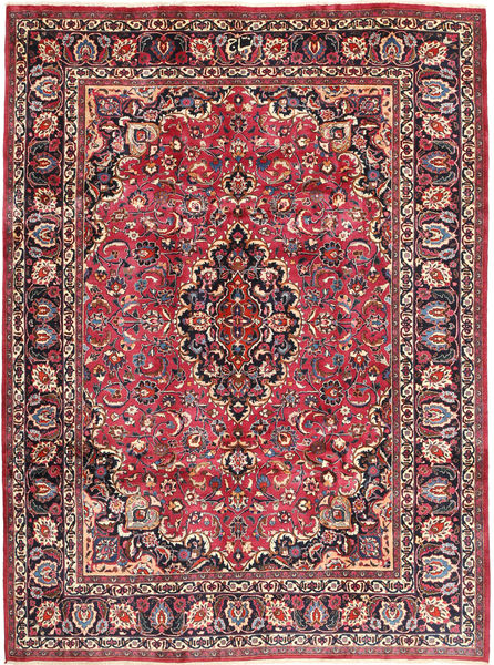 Mashad Rug 243X324 Authentic  Oriental Handknotted Dark Red/Dark Brown (Wool, Persia/Iran)