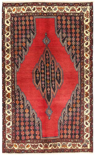 Hamadan Matto 140X225 Itämainen Käsinsolmittu Ruskea/Beige (Villa, Persia/Iran)