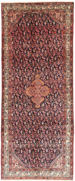 Hamadan Alfombra 125X314 Oriental Hecha A Mano Beige Oscuro/Púrpura Oscuro (Lana, Persia/Irán)