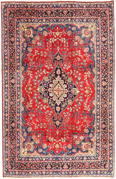 Mashad Matto 192X294 Itämainen Käsinsolmittu Pinkki/Ruskea (Villa, Persia/Iran)