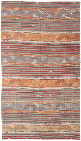 Kilim Turkish Rug 170X297 Authentic  Oriental Handwoven Light Brown/Dark Grey (Wool, Turkey)