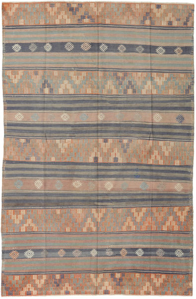 Kilim Turkish Rug 171X263 Authentic  Oriental Handwoven Light Brown/Light Grey (Wool, Turkey)