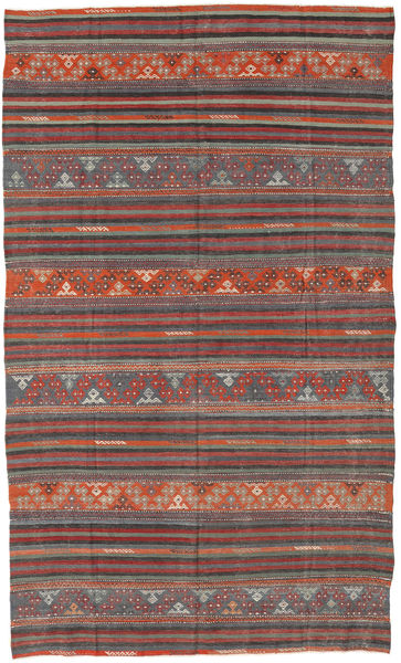 Kilim Turkish Rug 167X276 Authentic  Oriental Handwoven Dark Grey/Dark Red (Wool, Turkey)