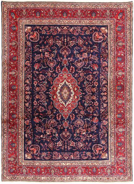 Hamadan#Shahrbaf Matta 266X377 Äkta Orientalisk Handknuten Mörklila Stor (Ull, Persien/Iran)