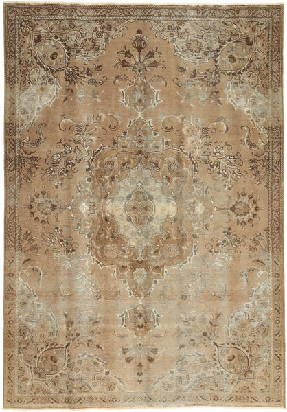 Colored Vintage Rug 187X270 Authentic  Modern Handknotted Light Brown/Brown (Wool, Persia/Iran)