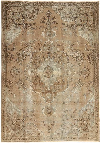 Colored Vintage Teppe 187X270 Ekte Moderne Håndknyttet Lysbrun/Brun (Ull, Persia/Iran)