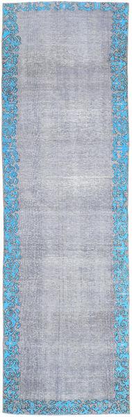 Colored Vintage Rug 80X262 Authentic  Modern Handknotted Hallway Runner  Light Purple/Light Grey/Light Blue (Wool, Persia/Iran)