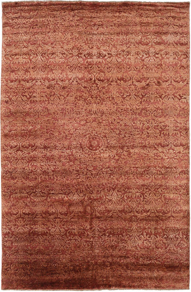 Damask Matto 193X300 Moderni Käsinsolmittu Ruoste/Ruskea ( Intia)