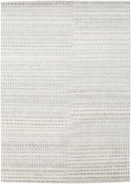 ネパール Original 絨毯 174X247 モダン 手織り 暗めのベージュ色の/ベージュ (ウール/バンブーシルク, ネパール/チベット)