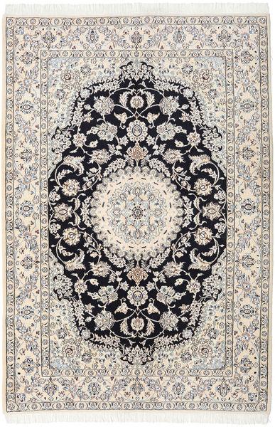 Nain 9La Teppich  161X237 Echter Orientalischer Handgeknüpfter Beige/Hellgrau (Wolle/Seide, Persien/Iran)