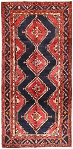 Koliai Rug 151X310 Authentic  Oriental Handknotted Hallway Runner  Dark Red/Black (Wool, Persia/Iran)