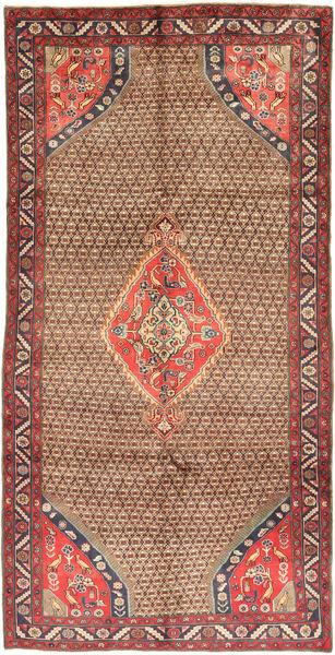 Koliai Vloerkleed 150X295 Echt Oosters Handgeknoopt Tapijtloper Donkerrood/Bruin (Wol, Perzië/Iran)