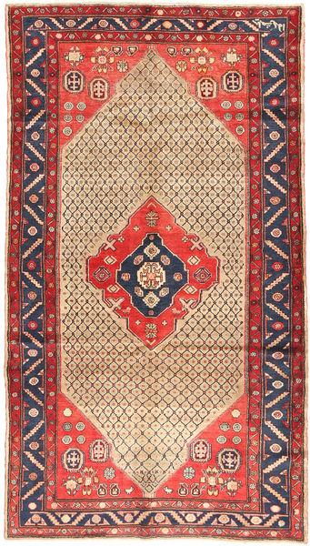 Koliai Vloerkleed 156X281 Echt Oosters Handgeknoopt Tapijtloper Donkerrood/Beige (Wol, Perzië/Iran)