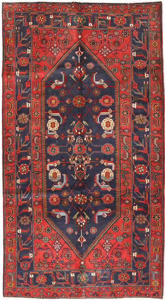 Koliai Rug 161X296 Authentic  Oriental Handknotted Hallway Runner  Dark Grey/Brown (Wool, Persia/Iran)