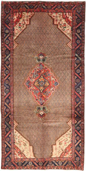 Koliai Vloerkleed 155X320 Echt Oosters Handgeknoopt Donkerbruin/Donkerrood (Wol, Perzië/Iran)