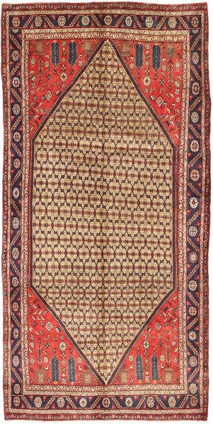 Koliai Vloerkleed 157X323 Echt Oosters Handgeknoopt Tapijtloper Donkerrood/Roestkleur (Wol, Perzië/Iran)