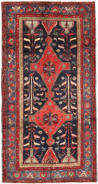 Koliai Vloerkleed 150X290 Echt Oosters Handgeknoopt Tapijtloper Donkerrood/Zwart (Wol, Perzië/Iran)