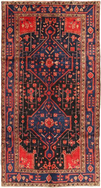 Koliai Rug 156X293 Authentic  Oriental Handknotted Hallway Runner  Dark Grey/Rust Red (Wool, Persia/Iran)