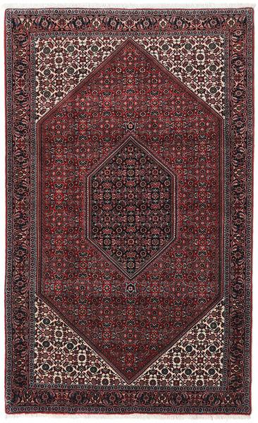 Bidjar Takab/Bukan Matta 110X180 Äkta Orientalisk Handknuten Mörkbrun/Mörkröd (Ull/Silke, Persien/Iran)
