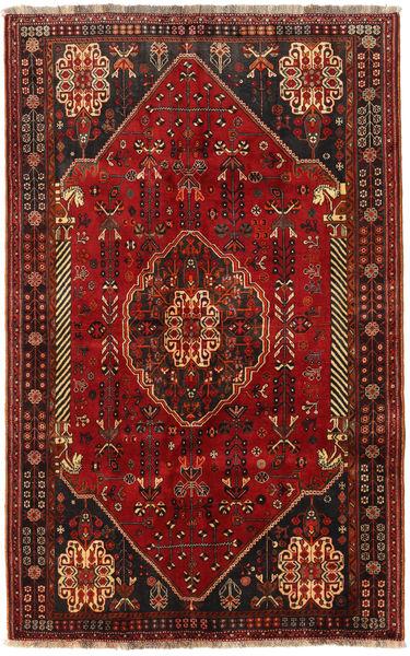 Ghashghai Matto 156X250 Itämainen Käsinsolmittu Tummanpunainen (Villa, Persia/Iran)